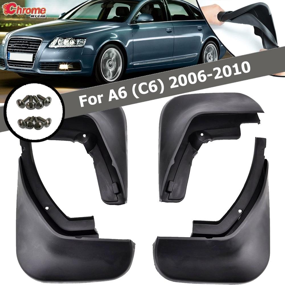 Ajuste para Audi A6 (C6) 2006 2007 2008 2009 2010 sedán guardabarros ACCESORIOS 4 unids/set