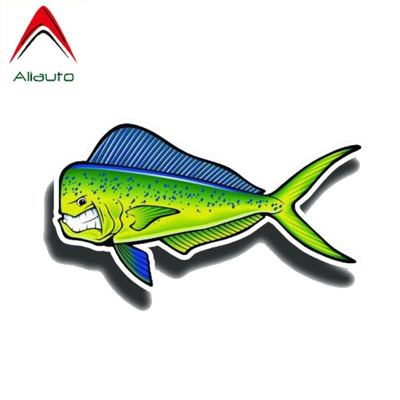 Aliauto Creative Angry Mahi Fish Reflective Car Sticker PVC Decal for Motorcycle Opel Audi Nissan Honda, 15CM*8CM