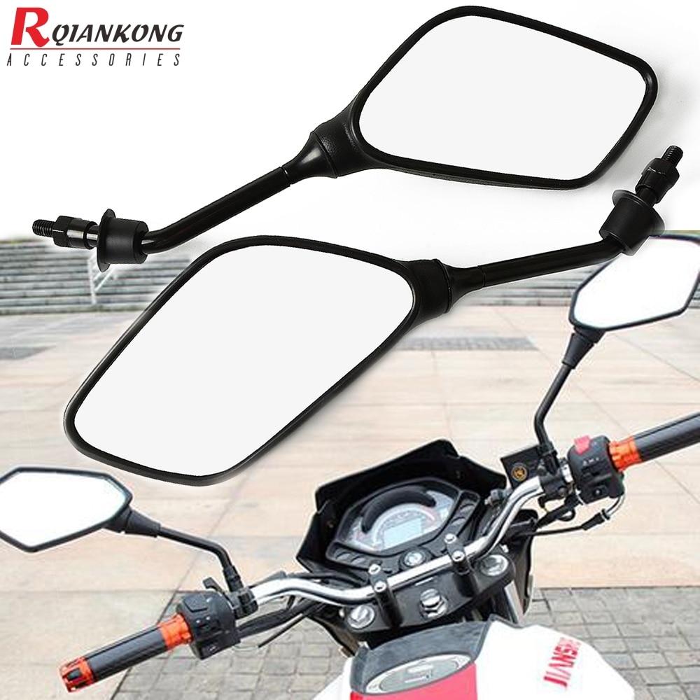 Piezas de espejo retrovisores laterales para motocicleta Cafe Racer Universal para Yamaha YBR 125 r6 r3 r1 xj6 fz1 mt 07 MT-09 yz