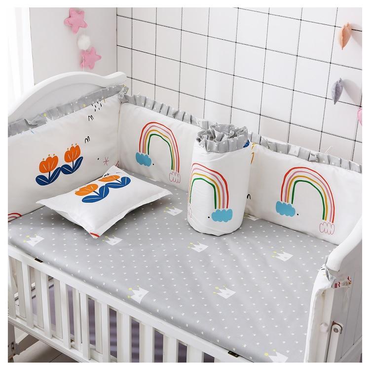 6 шт., Детские хлопковые Бамперы для кроватки