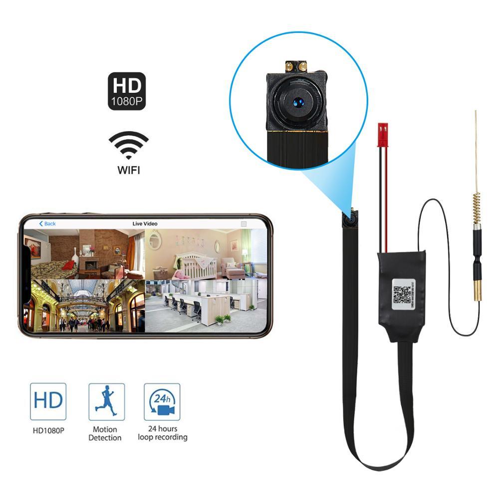 90 Degree HD 1080P DIY Mini Camera Portable WiFi IP P2P Wireless Micro Motion Detection Camcorder Video Recorder APP IP CAM
