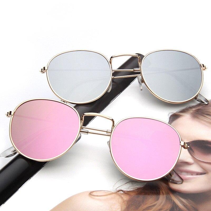 Женские солнцезащитные очки 2020 солнцезащитные очки винтажные круглые металлические отражающие очки зеркальные мужские оттенки оверсайз о...