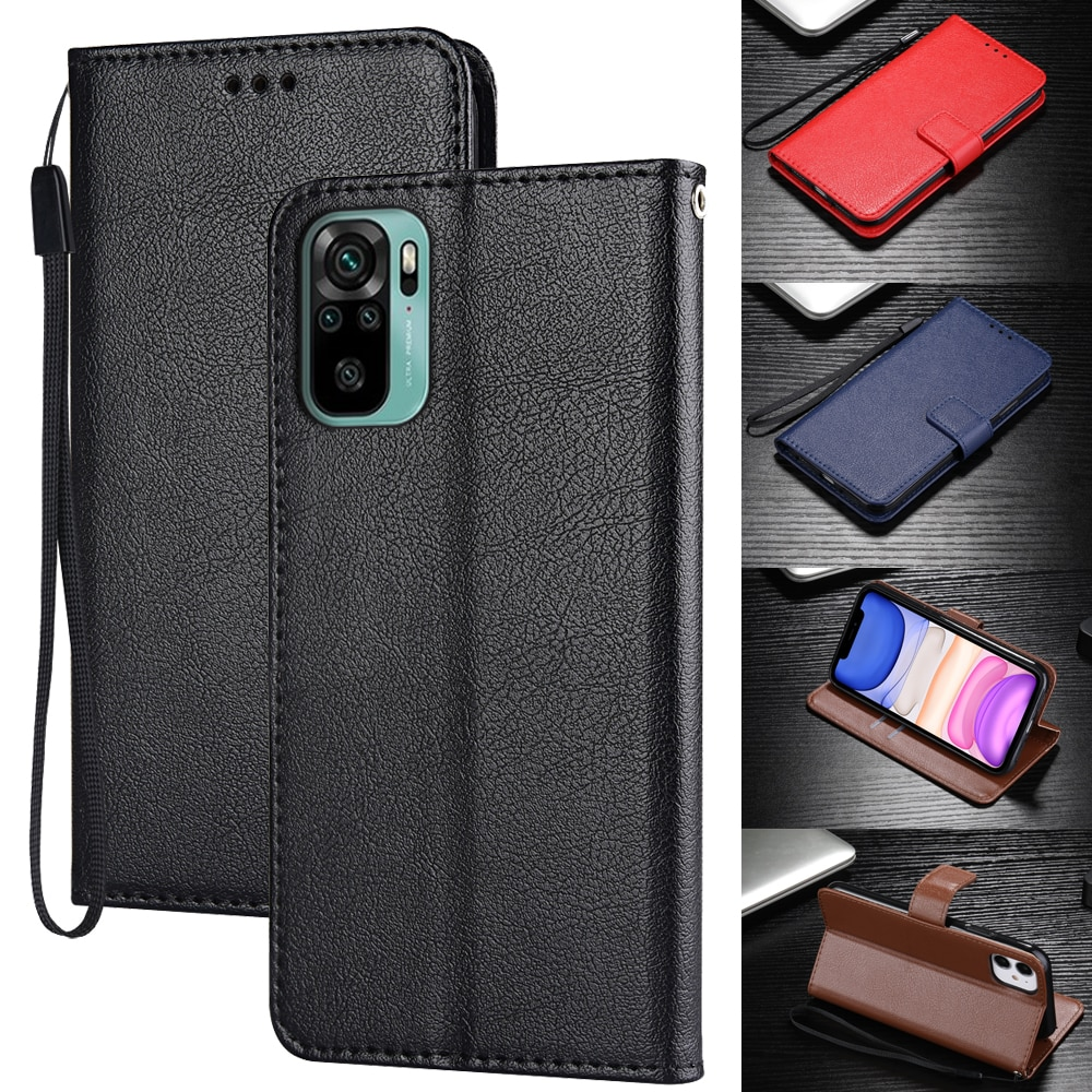 Wallet Leather case for Xiaomi Redmi Note 10 9 S i C 8 7 6 5 4 A T Pro 3 X 5A Prime cover for Poco M