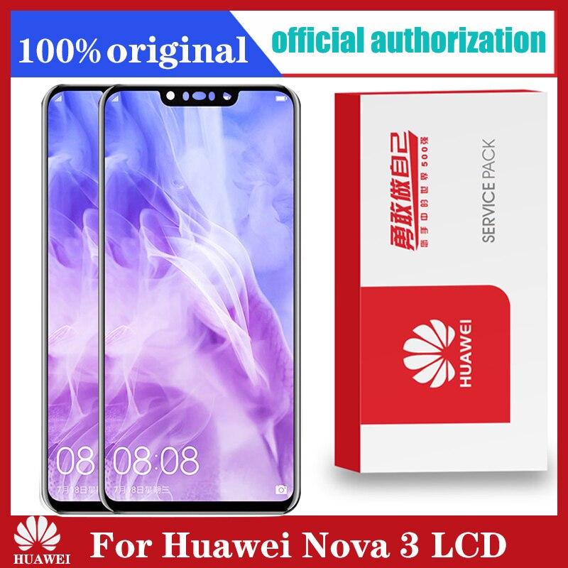 Original Für Huawei Nova3 PAR-LX1 LCD Display Touchscreen Digitizer Montage Mit Rahmen PAR-AL00 Replacem Für Huawei Nova 3 LCD