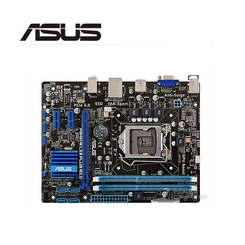 Для ASUS P8H61-M LX3 PLUS R2.0 компьютерная материнская плата LGA 1155 DDR3 для Intel H61 P8H61 настольная материнская плата SATA II PCI-E X16 б/у