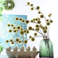 Yapay çiçek top uzun şube Ev Noel düğün dekorasyon plastik sahte bitkiler çelenk fleur artificielle