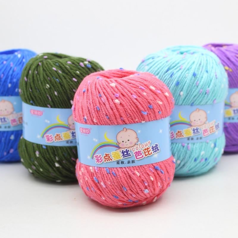 10/lote 500g de leche de lana de algodón hilado nieve punto lana DIY tejer bufanda para Jersey sombrero de la mano de punto bebé suave hilo de lana