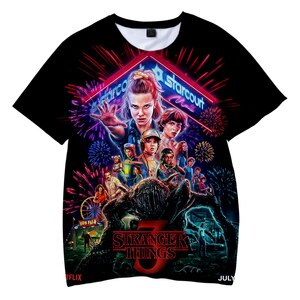 Stranger Things Men Tshirt 3D Kids Fashion T-shirt Boys 2021 New Style lovely Summer Short Sleeve Tshirt Kids Favorite Tops