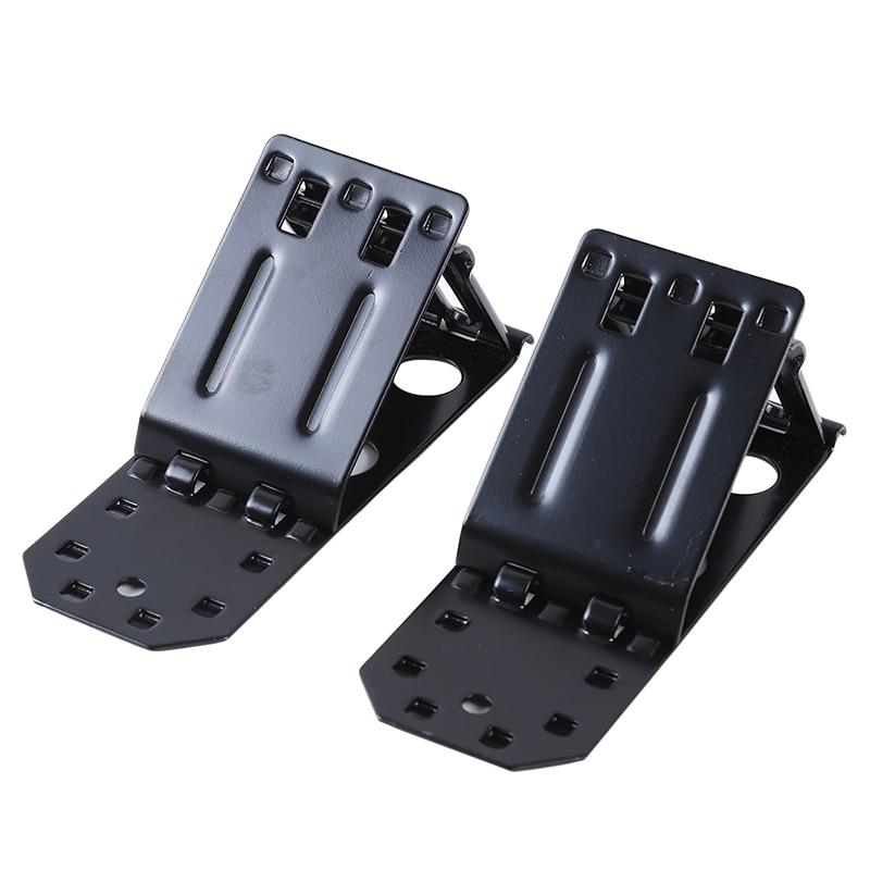 Black Metal Folding Triangle Wheel Chock Stop Stoper Tire Nonslip Supporter Car Accessories