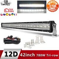 CO LIGHT 12D High Power 3-Row Led Bar Offroad 12V 390W 585W 780W 936W 975W Combo Beam 4x4 Work Light Bar for Trucks ATV SUV Boat