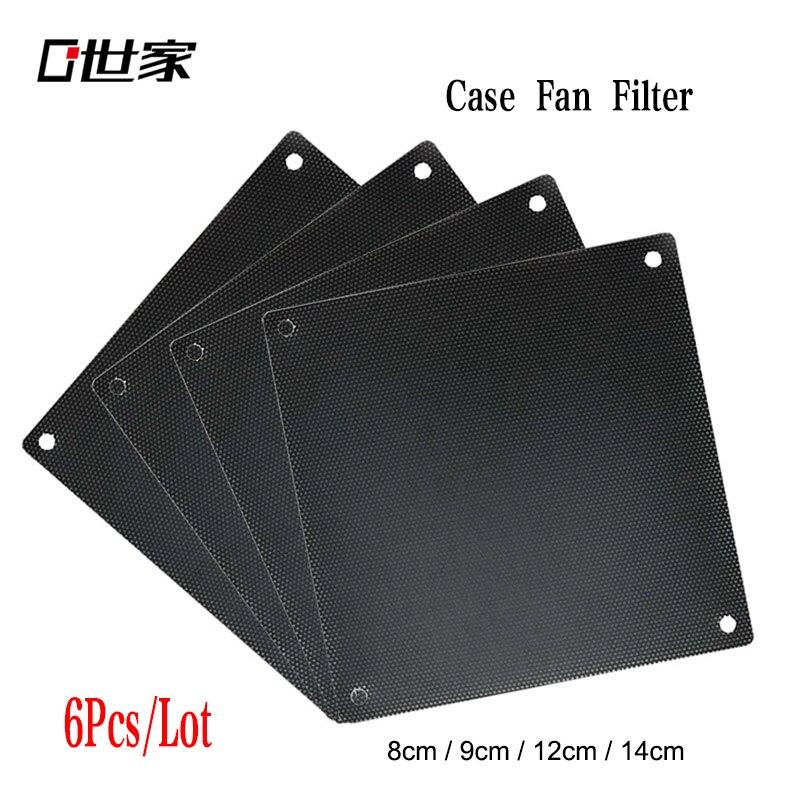 Computer Mesh DIY PVC PC Case Fan Cooler 12cm 14 9 8cm Black Dust Filter Network Net Case Dustproof Cover Chassis Dust Cover