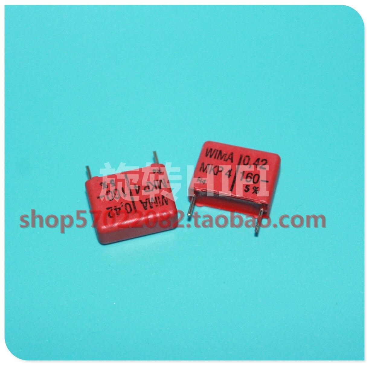 10 pçs vermelho wima mkp4 0.42uf 160v pcm15 original novo MKP-4 424/160 v p15mm áudio 242 venda quente 0.42 uf/160 v 420nf