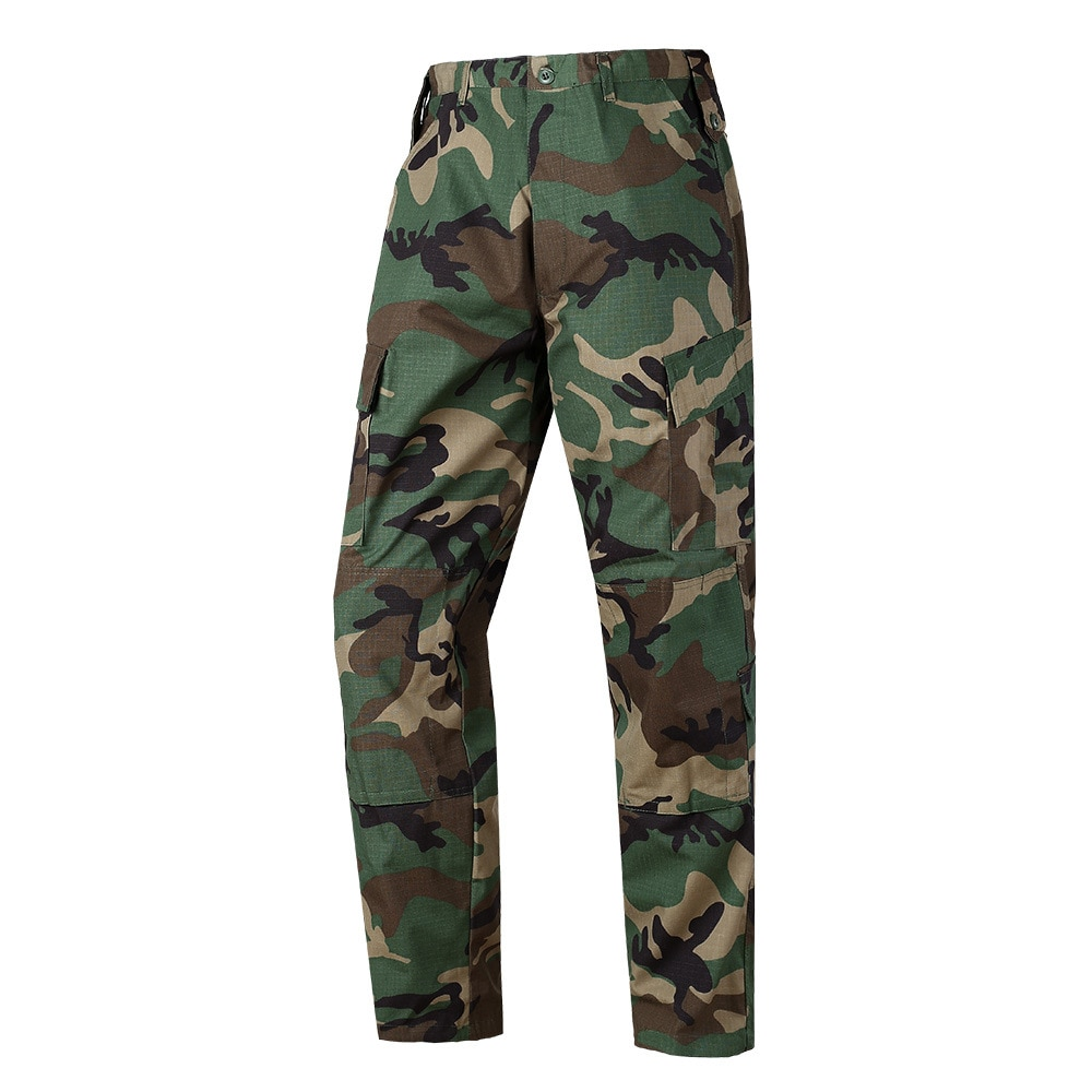 Men's Cargo Pants Military Tactical Male Overalls Training Combat Army Military Pants Many Multi-pocket Solid Woodland Camo Pant недорого