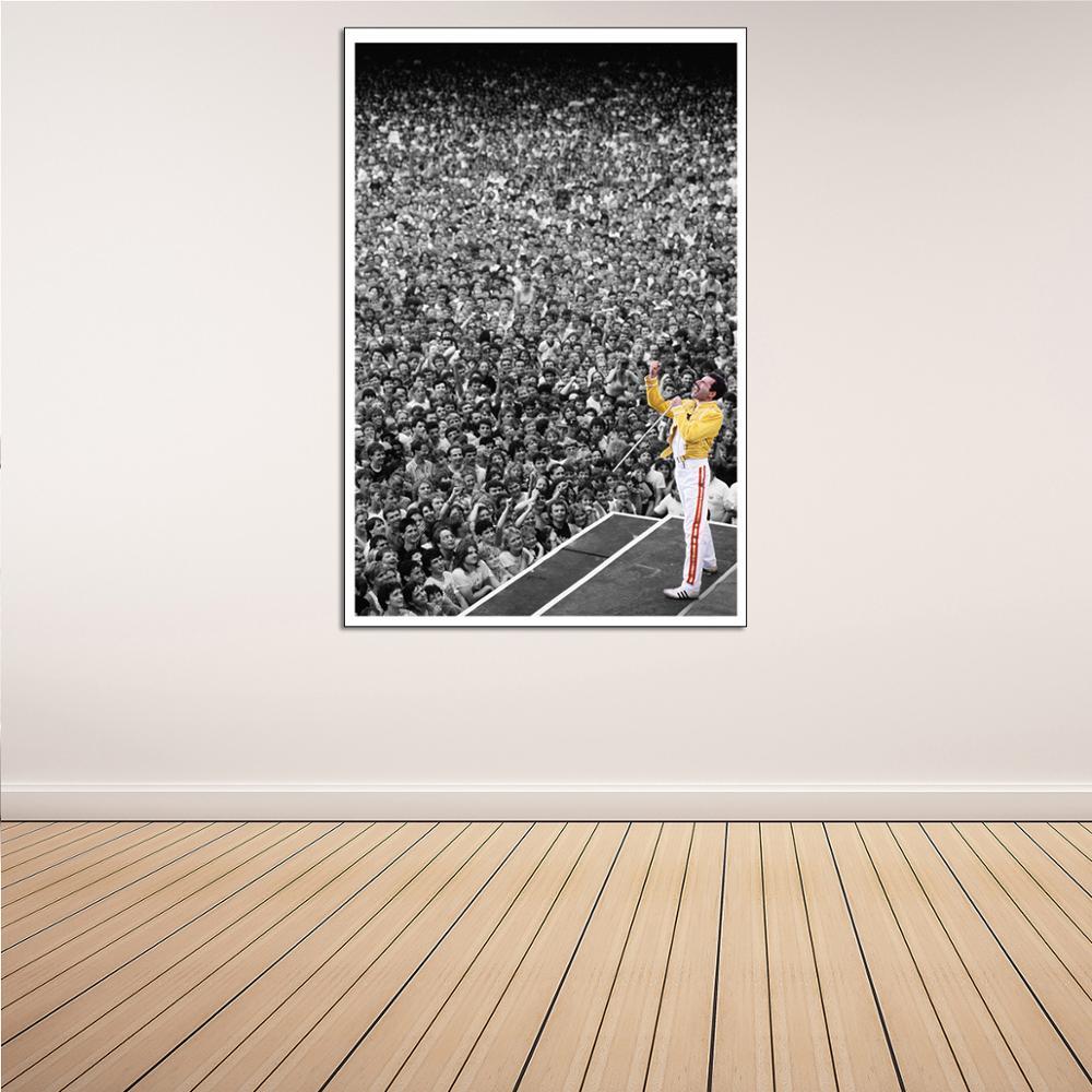 Cuadro sobre lienzo de Wembley Stadium Crowd, póster de arte de pared impreso para sala de estar, decoración del hogar, pintura