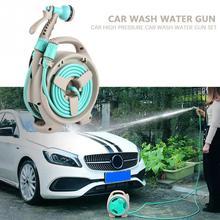 Pistolet de pulvérisation deau à haute pression   Pour lavage de voiture, Kit de lavage de voiture avec tuyau deau, nettoyeur de pulvérisation à 6 fonctions, accessoires pour lentretien