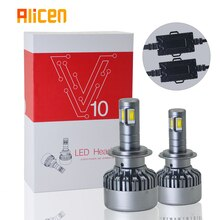 Auto lampadine del faro H7 led H4 4-face CSP chip brillante 9005/HB3 9006/HB4 9004/HB1 9007/HB5 9012 H8 H11 6000K 3000K 10000K 12V