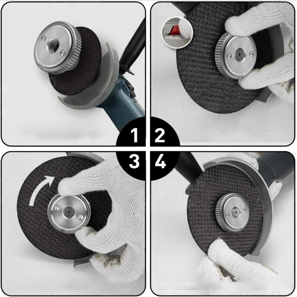 Filettatura M14 115mm / 125mm smerigliatrice angolare interna flangia - Utensili elettrici - Fotografia 3