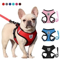 dogs harness with leash set breathable for small and large dog harness vest puppy chihuahua cat harness vest arnes para perro