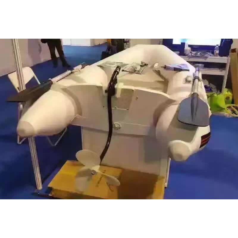 On-hook propeller plastic boat propeller rubber inflatable boat outboard inflatable boat handheld lithium battery electric enlarge