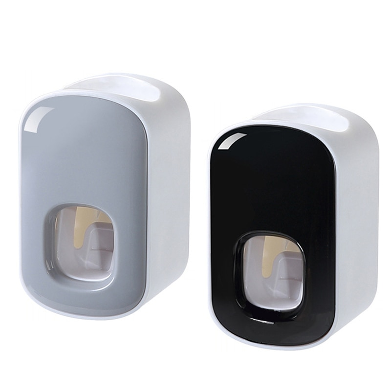 Wall Mount Automatic Toothpaste Dispenser Bathroom Accessories Set Toothpaste Squeezer Dispenser Bathroom Toothbrush Holder Tool enlarge