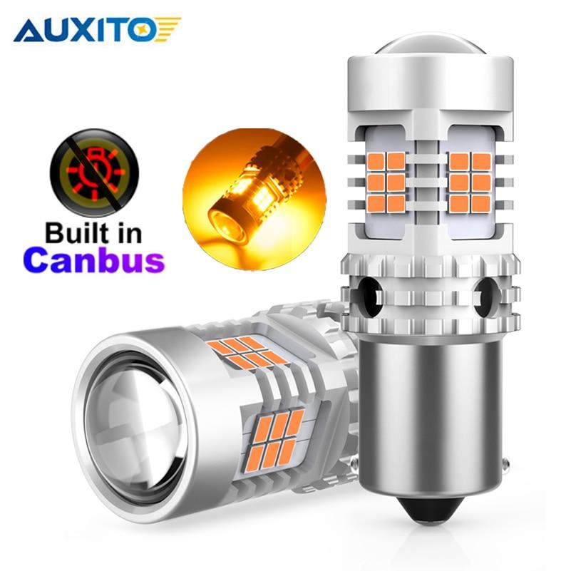 2 قطعة سيارة BAU15S LED لا فرط فلاش العنبر الأصفر LED 7507 PY21W LED لمبات لتحويل أضواء الإشارة Canbus خطأ مجاني 12 فولت
