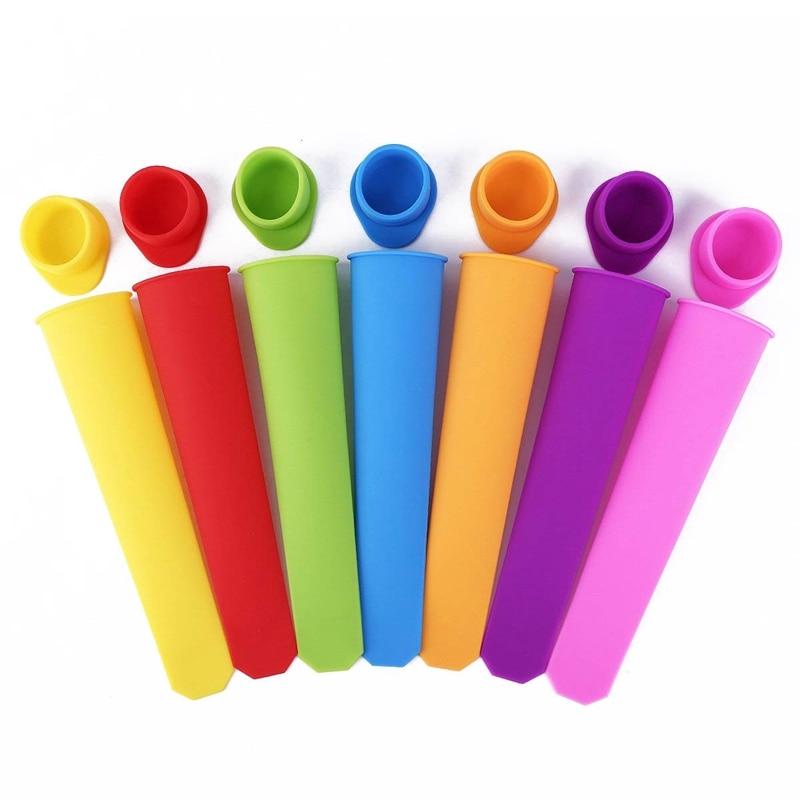 HEIßER-7 x Silikon popsicle form 7 farben
