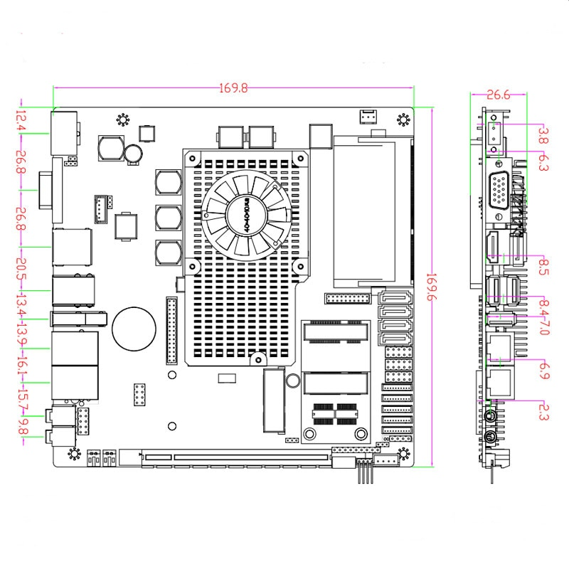 Full tested Mini ITX motherboard support Intel core i3/i5/i7 processor with 6*COM 6*USB industrial motherboard