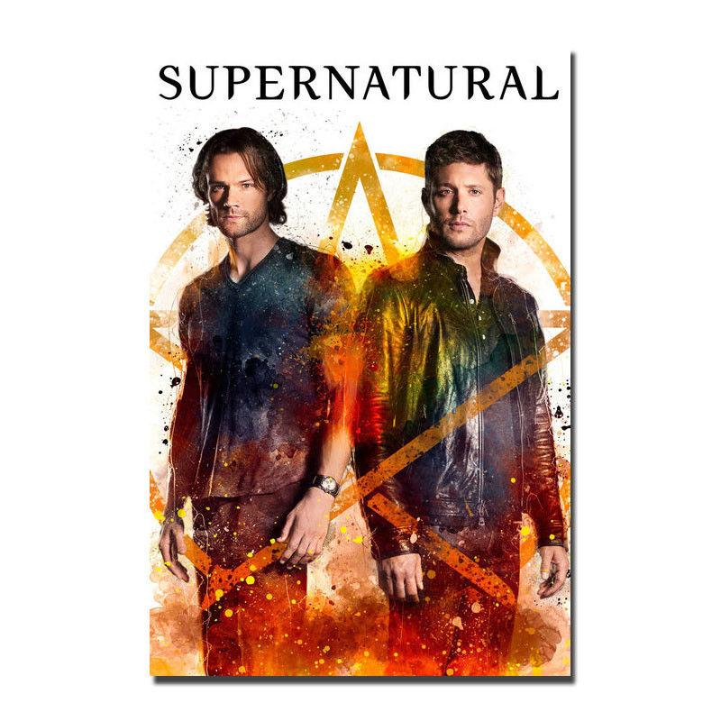 Póster con impresión estilo cuadro Supernatural tv Poster decoración de la pared del hogar 8x12x18 24x36 lienzo decoración de la sala de estar