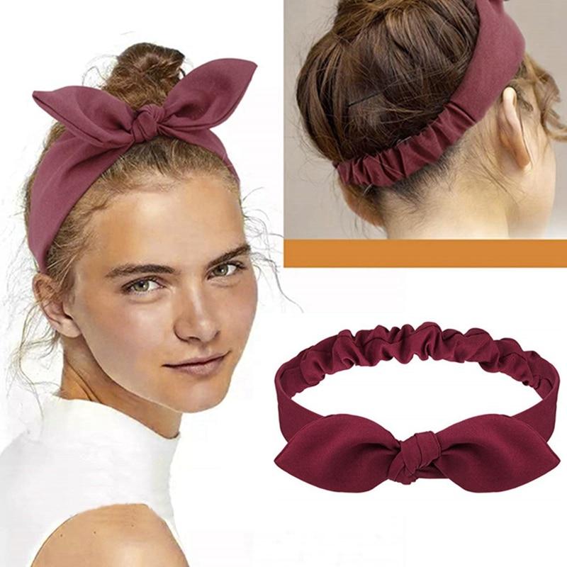 Fashion Women Girls Summer Bohemian Hair Bands Bowknot Headbands Vintage Elastic Cross Turban Bandage Bandanas Hair Accessories  - buy with discount
