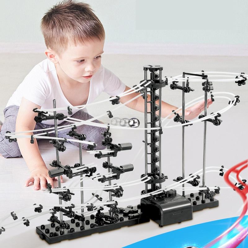 Neue Marmor Run Spielzeug Tracks Labyrinth Mit Kugeln Runes Set Marmor Schaltung Ball Für Kinder Marmor Tracks Marmor Läuft Rennen spielzeug Kinder