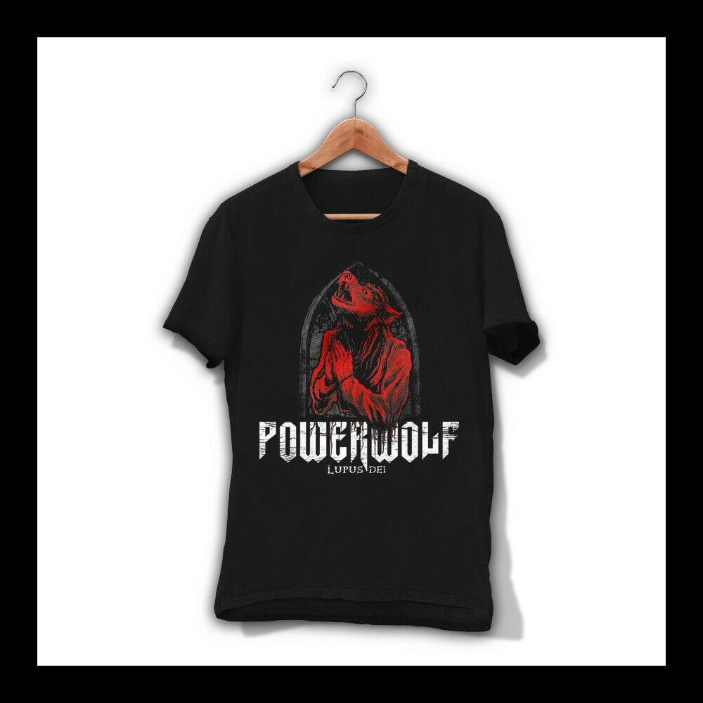 Camiseta POWERWOLF LUPUS DEI para hombre, camiseta de banda de METAL pesada, camiseta SABATON SAXON