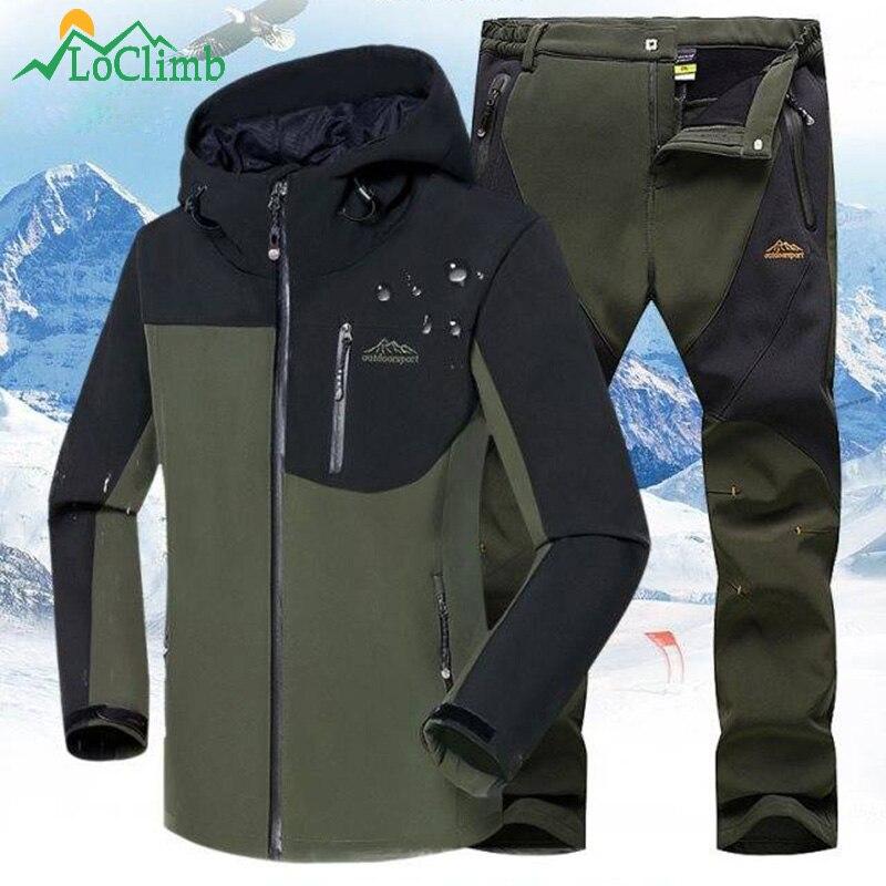 Chaqueta Softshell para hombre LoClimb, chaqueta de senderismo para exteriores para hombre, chaqueta impermeable para acampar/escalar, rompevientos, chaquetas de Otoño/Invierno AM408