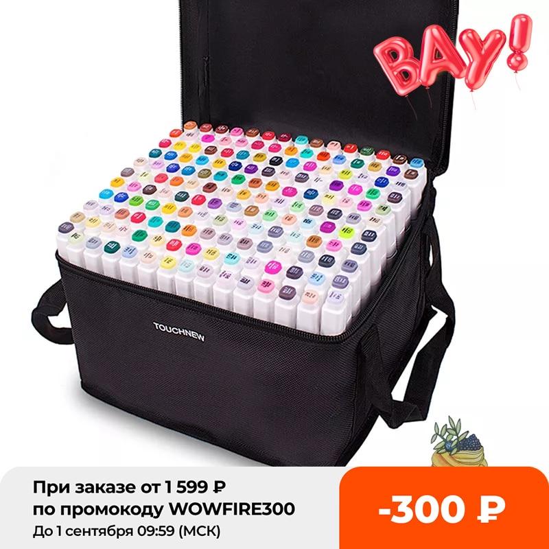 Маркеры TouchFive 12/80/168 цветов, маркеры для рисования эскизов, двусторонние наконечники, спиртовые ручки для искусственных фотографий, маркеры ...