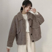 Coat Large size all match Korean version Japanese coat wool ladies fashion long sleeved short women'