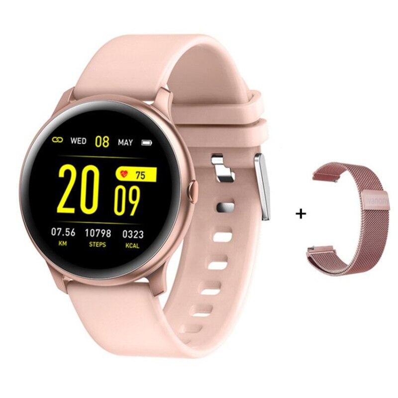 Kw19 relógio inteligente mulher homem monitor de freqüência cardíaca pressão arterial oxigênio multi-modo esporte smartwatch para iphone android vs dt88 s20