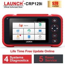 Сканер LAUNCH OBD2 CRP129i, считыватель кодов, Автомобильный сканер, инструмент для диагностики двигателя ABS SRS, инструмент для диагностики коробки передач OBD 2, Автомобильный сканер LAUNCH X431
