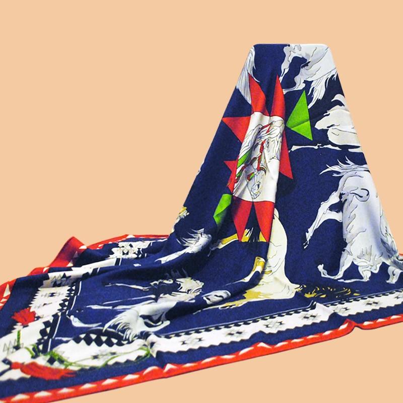 "HuaJun 2 tienda   Otoño e Invierno beneficios ""caballo"" gran tamaño kerchief de terciopelo tejido de espiga chal impreso"