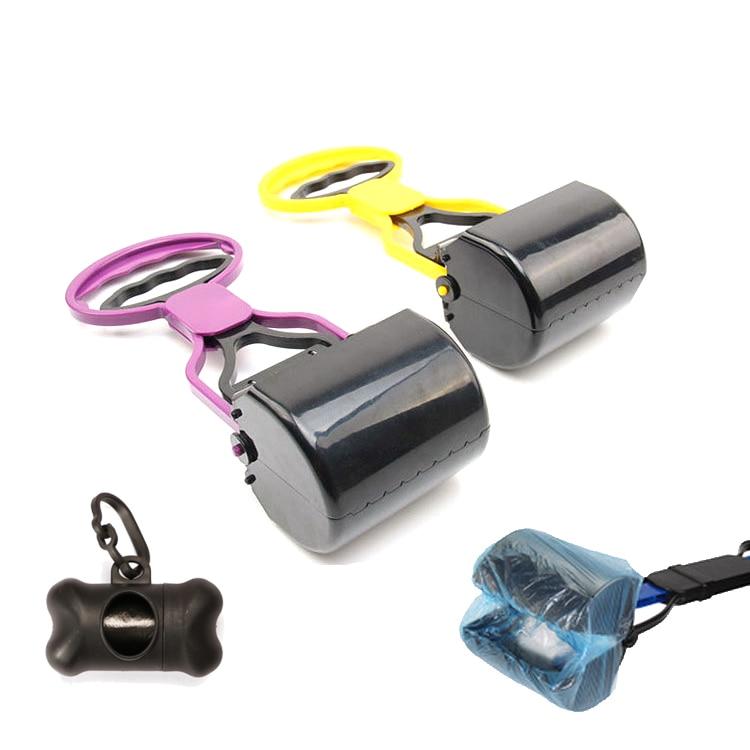 Limpiador portátil para perros y gatos, utensilio para recoger excrementos, residuos de...