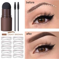 new brow stamp shaping kit waterproof soft sponge eyebrow powder long lasting natural shape brow stamp contouring stick