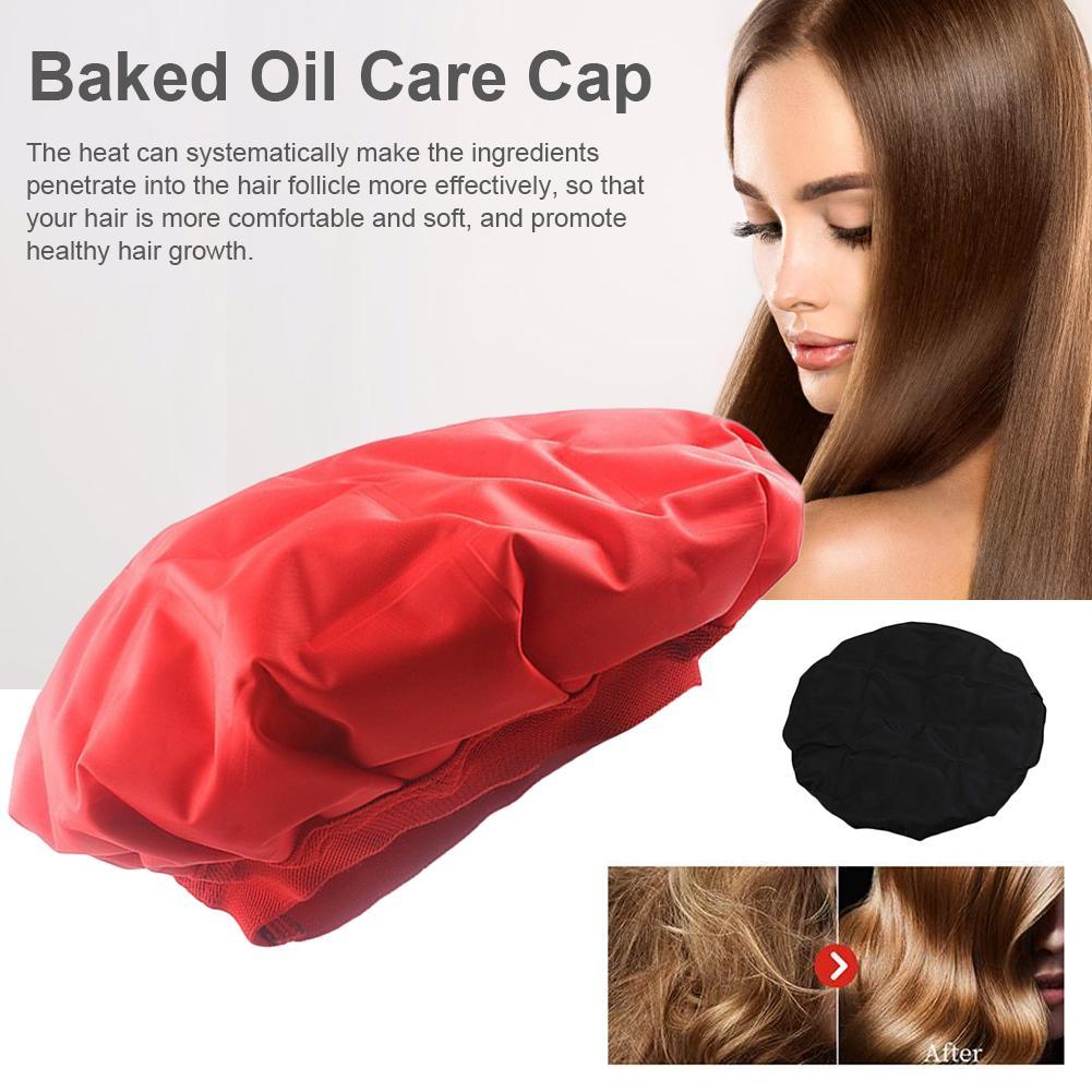 Gorro de calefacción para Microwavable teñido tapa de aceite de cabello caliente frío doble uso tapa de cuidado del cabello tapa de acondicionador profundo inalámbrico