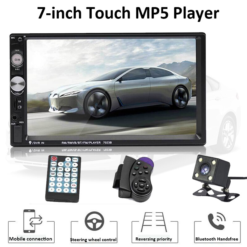 "TOSPRA 7023B 2 Din Auto Multimedia Player Bluetooth Auto Video Stereo 7 ""Touch Screen Video MP5 Player Auto Radio backup Kamera"