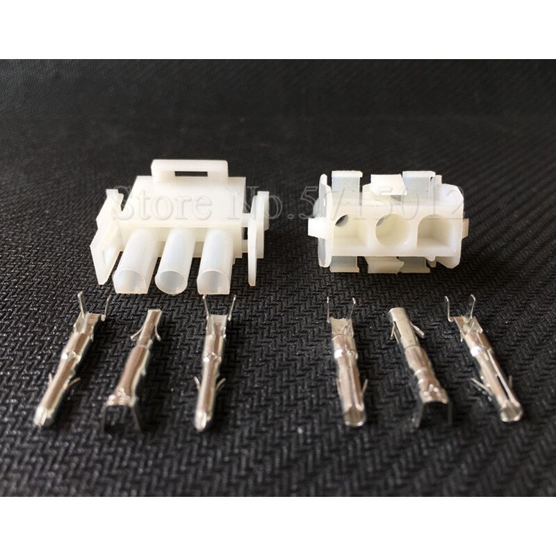 Conector de fio do elevador de 3 furos motocicleta plug luz do carro cablagens soquete