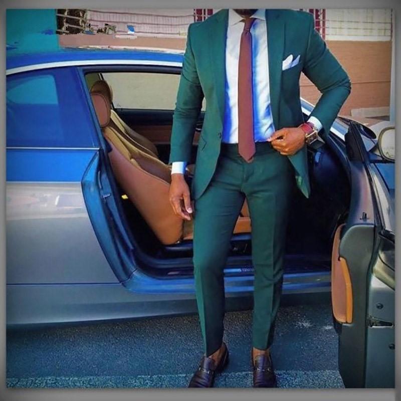 Handsome Groomsmen Notch Lapel Groom Tuxedos Mens Wedding Dress Man Jacket Blazer Prom Dinner (Jacket+Pants+Tie) 019 notch collar pleated panel blazer