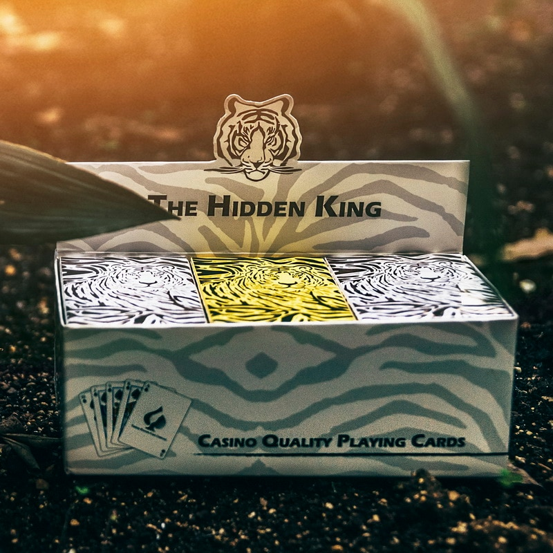Creative Cardistry Playing Cards Collect Paper Waterproof Tiger Pattern Limited Collection Magic Party Gifts Juego De Mesa Games
