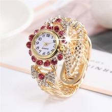 2021 Ladies Wrist Watches Dress Gold Watch Women Luxury Crystal Diamond Watches Clock Relogio Femini