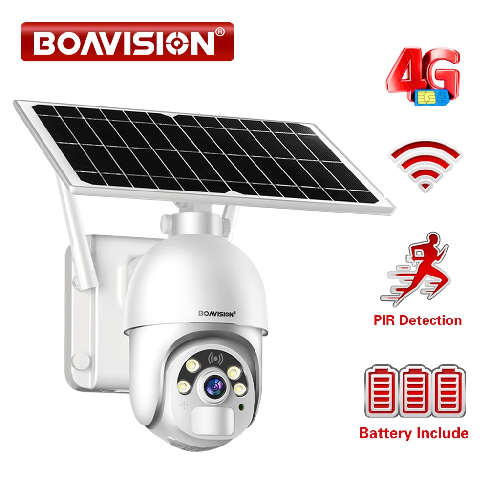 1080P WIFI Camera Solar Panel Outdoor IP Camera Rechargeable Battery...