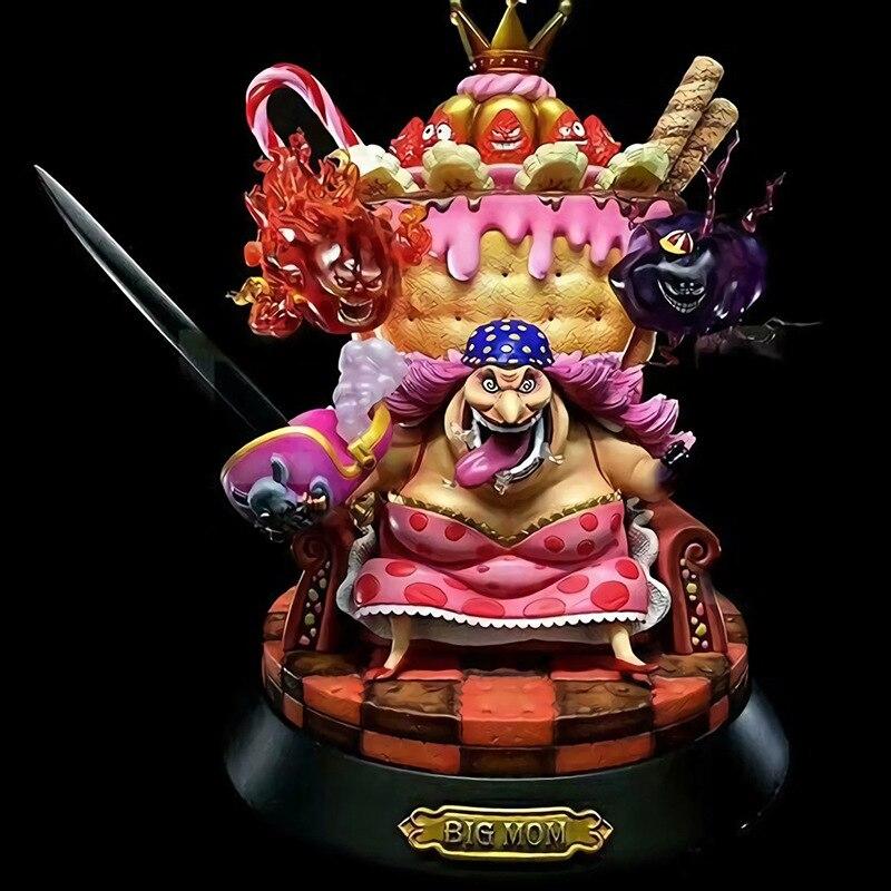 23cm Bigmom una pieza Cuatro Emperadores Throne Anime figura colección Shanks Kido Edward Newgate acción figura niños juguetes regalo