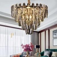modern k9 crystal led pendant chandelier lights gold metal living room led chandelier lighting bedroom led hanging lamp fixtures