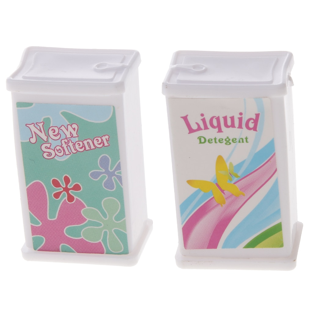 7 Pieces Cleaning Tools Laundry Basket Bucket Detergent Kit For Doll