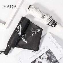 YADA nouvelle mode papier avion modèle 3-parapluie pliant femmes UV imperméable parapluie Parasol pluie soleil lumière parapluies YD200210